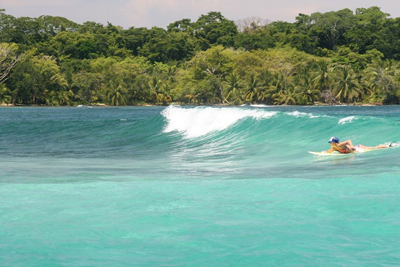black rock surf spot in panama