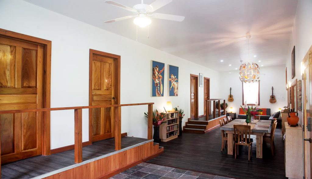 living room in bocas del toro apartment
