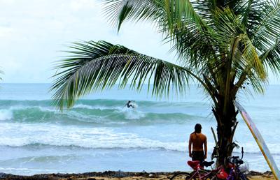 tiger tails surf spot isla colon bocas del toro