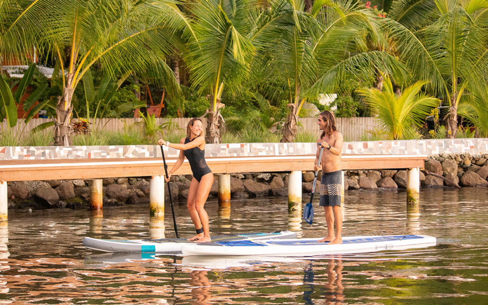 paddle boarding at bocas del toro