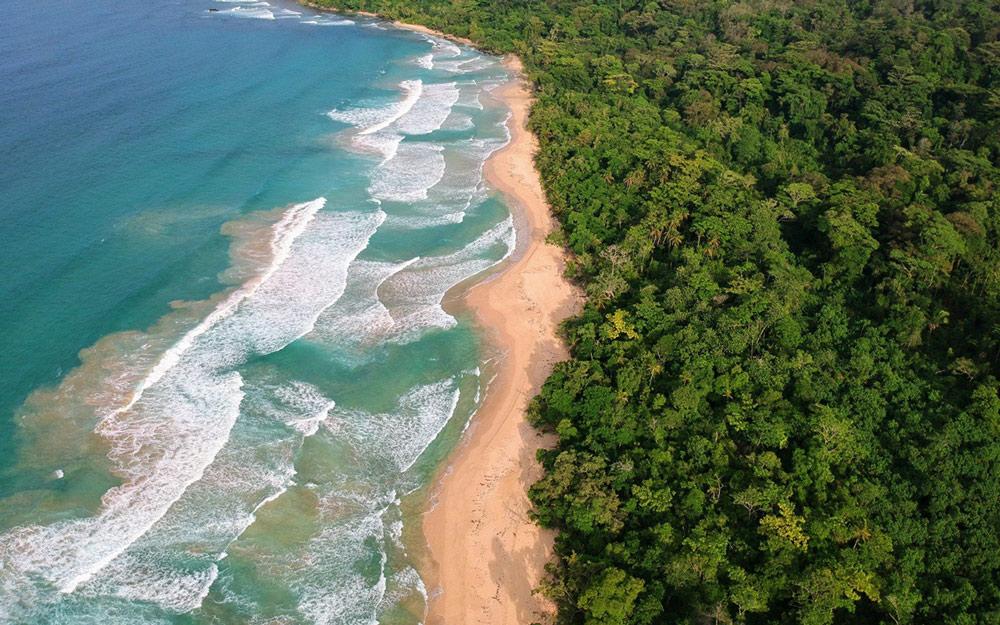 wizard beach bocas del toro drone
